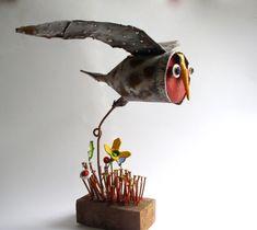 chouette| gérard ollas| sculpture,assemblages,chouette