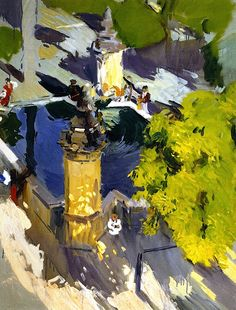 Fountain of the Mosque, Cordoba / Joaquin Sorolla y Bastida - 1910.