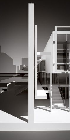 Architecture Collage, Facade Architecture, Concept Architecture, School Architecture, Casa Patio, Modern Villa Design, Arch Model, Architectural Elements, Living Spaces