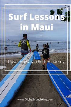 Ever dreamed of being a surfer? Well book a flight to Maui and go to the BEST Surf School- Royal Hawaiian Surf Academy.  That's what we did and it was TOTALLY AWESOME!!!! .   .   . www.GlobalMunchkins.com