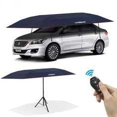 Lanmodo Pro Four-Season Wireless Automatic Car Tent Cover Umbrella Cover, Beach Umbrella, Beach Tent, Tent Camping, Camping Gear, Best Value Cars, Car Shelter, Portable Garage, Car Tent