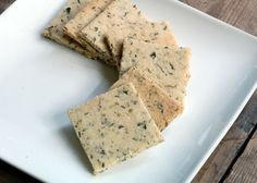 Herb Crackers - Almond Flour, Sea Salt, Herbes de Provence, Olive Oil, Water - SCD Legal, Grain Free, Gluten Free, Vegan