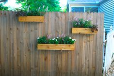 Fences With Planter Boxes