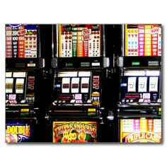 Las Vegas Slots - Dream Machines Post Card shipping to Moussy Le Neuf, France