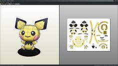 Pichu doll papercraft unfold by Antyyy.deviantart.com on @DeviantArt