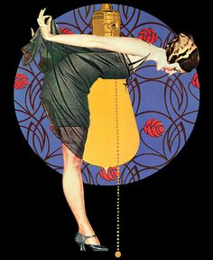Illustration by Clarence Coles Phillips (1880 – 1927) American artist, magazine and advertising illustrator closely associated with Life magazine.