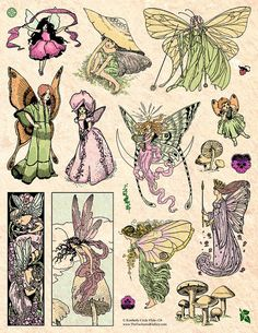 This listing is for an unmounted (rubber only - no wood or foam) rubber stamp sheet measuring approx. Pretty Art, Cute Art, Art Sketches, Art Drawings, Fantasy Drawings, Arte Sketchbook, Vintage Fairies, Hippie Art, Fairy Art