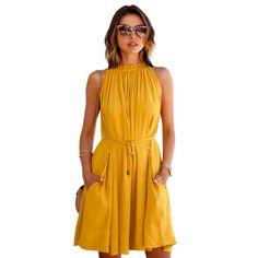 Womens yellow summer dresses | Dressing room blog