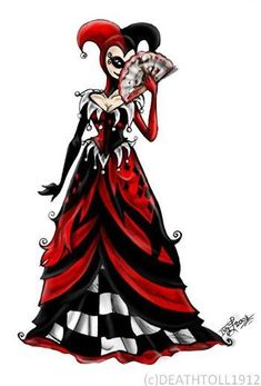 Image discovered by Halie Marie. Find images and videos about batman, harley quinn and harley queen on We Heart It - the app to get lost in what you love. Catwoman, Harley Quinn Et Le Joker, Harley Batman, Harley Quinn Cosplay, Robes Disney, Harley Queen, Der Joker, Pierrot Clown, Nananana Batman