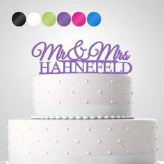 Tortendekoration 'Mr & Mrs' personalisiert