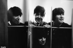 The Beatles looking out the window The Beatles 1, Beatles Photos, John Lennon Beatles, All My Loving, All You Need Is Love, The Fab Four, Image C, Ringo Starr, George Harrison