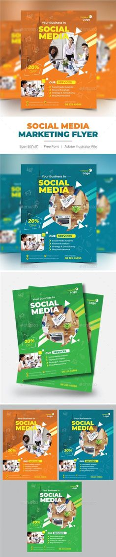 Social Media Marketing Flyer for $7 #sets #FlyerTemplate #GraphicDesigner #template #business #BusinessFlyer #graphics #flyer #design #company #DesignSet #PrintDesign #GraphicResource #flyers #collections #CorporateFlyers #Envato #graphicdesign #designs #PrintTemplates Marketing Flyers, Social Media Marketing, Jaguar E Typ, Business Flyer Templates, Business Flyers, Illustrator Cs5, Print Design, Graphic Design, Corporate Flyer