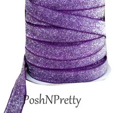 5/8 Glitter Stretch Velvet Elastic 5 YARDS  No por PoshNPretty