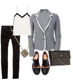 Menswear Inspired #FashionFriday - I'd wear with heels.