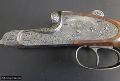 Engraving on a double rifle