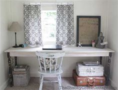 beautiful work desk by The Shabby Creek Cottage.