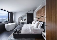 Designed by MINARC, the Icon City Hotel features 18 rooms + suites with interiors that make subtle references to Icelandic design.