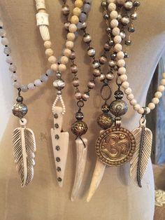 Beaded boho necklaces. Lisajilljewelry@gmail.com