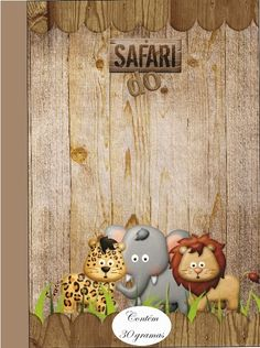 Fazendo a Propria Festa: KIT DE PERSONALIZADOS TEMA SAFARI Jungle Book Party, Jungle Theme Birthday, Safari Party, Safari Theme, Baby Birthday, Birthday Party Themes, Lion Party, Safari Cakes, Safari Decorations