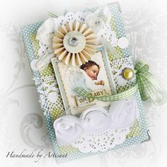 """Artisant: """"Little Darlings"""" album and a card for Baby Album, Graphic 45, Little Darlings, Baby Cards, Little Babies, Baby Boy, Scrapbook, Projects, Prints"""