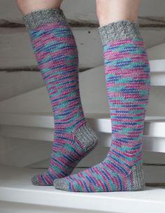 Knee Socks, Marimekko, Knitting Socks, Diy Crafts, Crochet, Pattern, Sock Knitting, Slipper, Socks