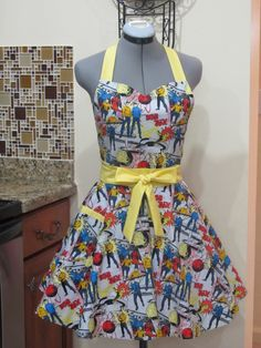 Star Trek Apron  Comic Book with a hint of by AquamarCouture, $37.00