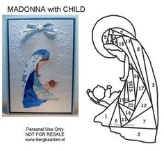 "** ""Christmas Madonna With Child"" Iris Folding @bergkaarten"