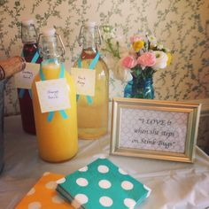 kitchen themed bridal shower - mimosa bar