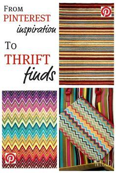 from Pinterest to Thrift #Goodwill #thrift