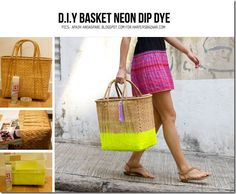 create dip dye looks on baskets, stemware and more!