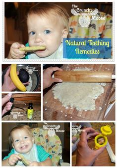 Natural Teething Remedies - Homemade teething biscuits recipes, calming herbs, and more! thecrunchymoose.com