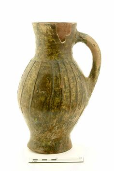 Baluster jug Production Date: Early Medieval; late 12th-mid 13th century