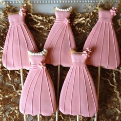 Prom Dress Cookies No Source Pink Bridesmaid