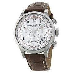 Baume & Mercier Men's BMMOA10041 Capeland Analog Display Mechanical Hand Wind Brown Watch