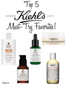 Top 5 Kiehl's favorites