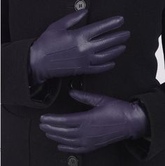 There's something really rather nice about these lovely purple gloves - they are cashmere lined and ultra soft leather. £37.00 #Women'sFashion