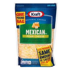 Kraft® Sliced Mexican Style Shredded Four-Cheese - 16oz : Target