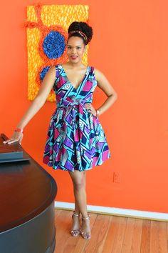 Tall woman Simply Cecily Ankara Flare Dress