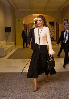 Queen Rania attended the 2nd Teacher Skills Forum at the King Hussein bin Talal Convention Center