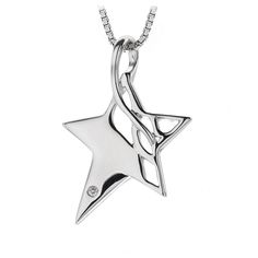 Hot Diamond Arabesque Eclipse Star Pendant
