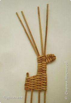 Олени для детских МК (всего 12 трубочек). Идея взята у мастеров плетения из лозы. фото 12