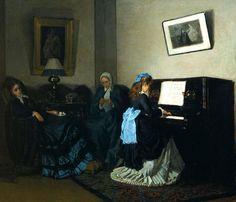 Николай Загорский. Семейная сцена  1875
