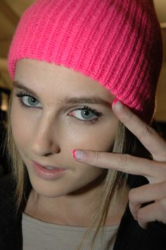 Tibi: Funky, pretty hot pink French manicures created using Dashing Diva neon pink polish. Photo courtesy Ann Lawlor