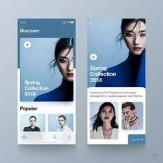 Recently I played around with some fashion app layout ideas. I was mostly focusing on the use of… Ui Design Mobile, App Ui Design, Interface Design, Design Web, Design Layouts, Email Design, User Interface, Android App, Great Website Design