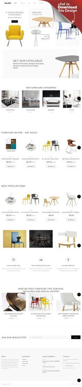 """WooCommerce Theme namens """"Woodiex - Möbelgeschäft"""" E-commerce Vorlagen, WooCommerce Themes, Design und Fotografie , Design, Innenausstattung und Möbel Vorlagen, Innenarchitektur Vorlagen   Woodiex ist ein sauberes WordPress Theme für Möbel, das in einem flachen Stil angefertigt wurde, um Ihnen zu helfen, Ihre Produkte zum Thema Innendekoration zu promoten. Seine durchdachten Layout..."""