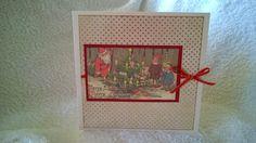 A vintage image used to make this Christmas card.