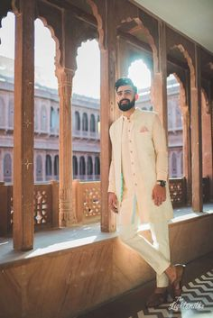 Browse photos, outfit & decor ideas & vendors booked from a real Punjabi /Sikh Destination wedding in Bikaner. Wedding Dresses Men Indian, Wedding Dress Men, Indian Wedding Planning, Wedding Suits, Indian Weddings, Wedding Couples, Wedding Ideas, Groom Outfit, Groom Dress
