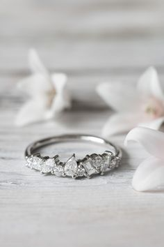 Elegant kt gold and diamond Constellation ring u love the white gold This is amazing Diamond Rings Pinterest Constellation White gold and Diamond