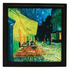 Unsere traditionellen Gallery Rahmen nehmen in unserer Kollektion bemahlter Glassrahmen mit Vincent Van Goghs beliebtem Gemälde Café Terrace elegante Form an.