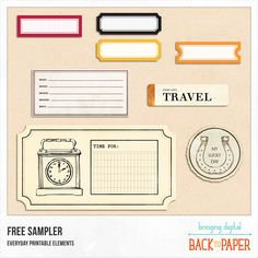 Everyday Printable Sampler by BackToPaper Scrapbook Journal, Journal Cards, Scrapbook Cards, Junk Journal, Scrapbooking, Mini Albums, Travel The World For Free, Planner Sheets, Letter A Crafts